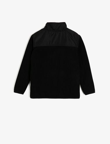 Koton Kids Fermuar Detaylı Sweatshirt Siyah
